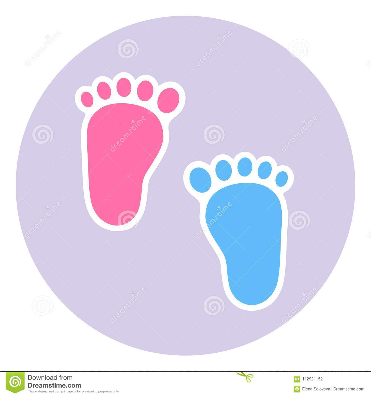 a badge of the footprint of the child baby footprints twin baby