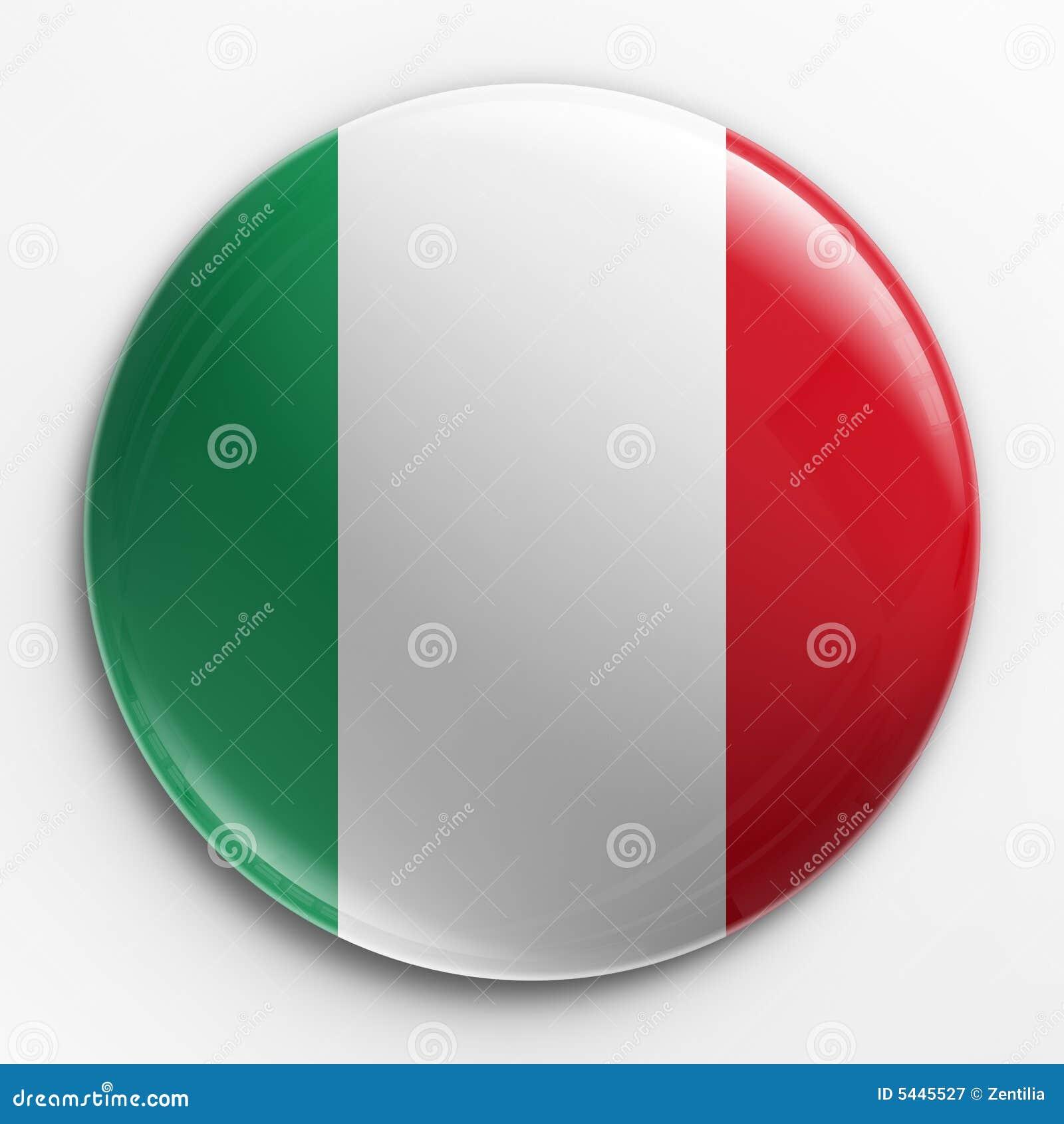 Badge -Italian flag
