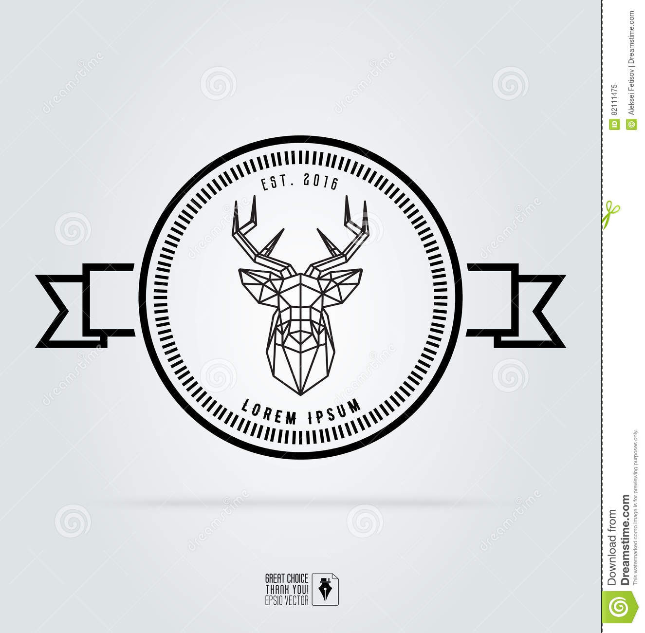 badge labels hipster logo vector illustration silhouette of