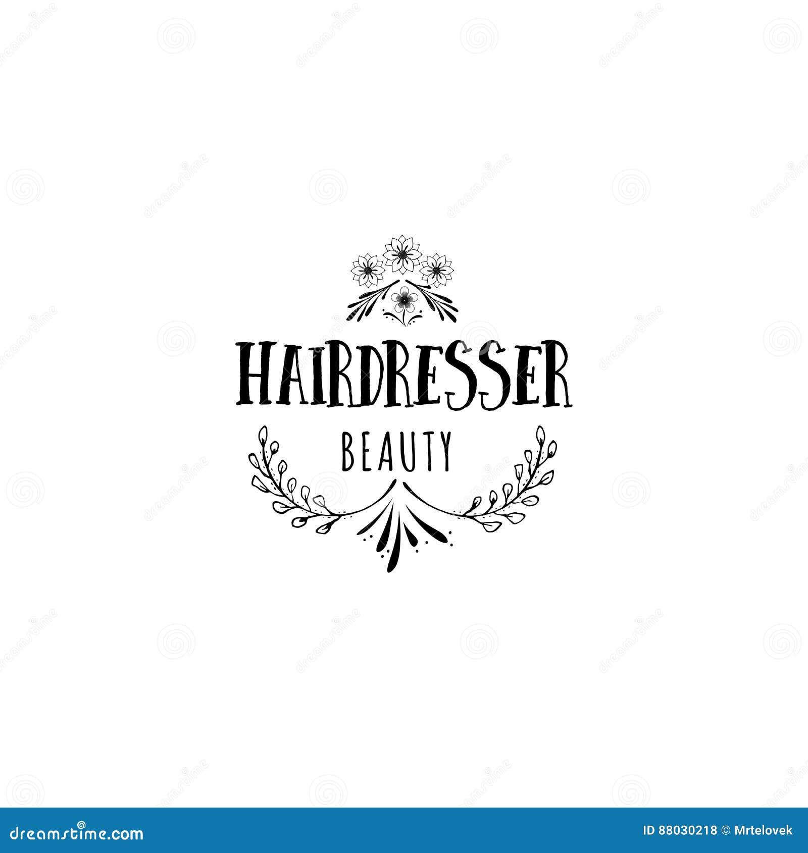 Badge para las pequeñas empresas - artista Hairdresser del salón de belleza Etiqueta engomada, sello, logotipo - para el diseño,