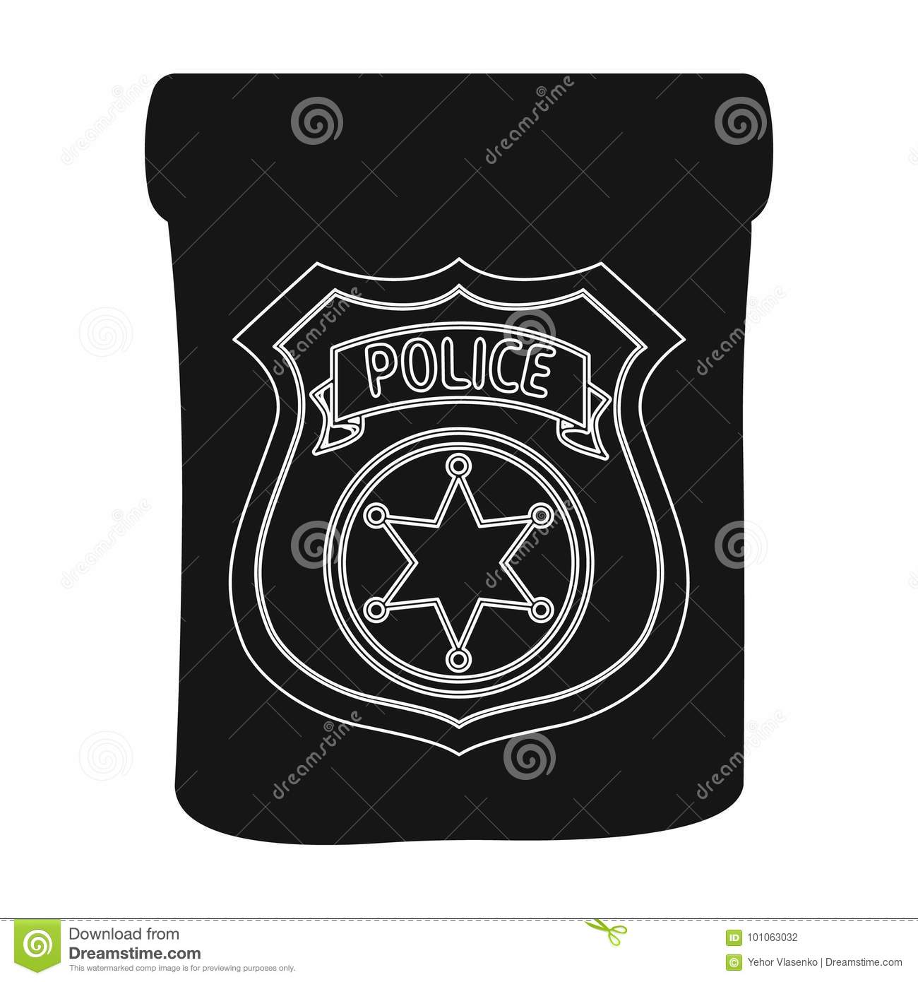 A Badge A Police Badge Detective And Police Single Icon In Black
