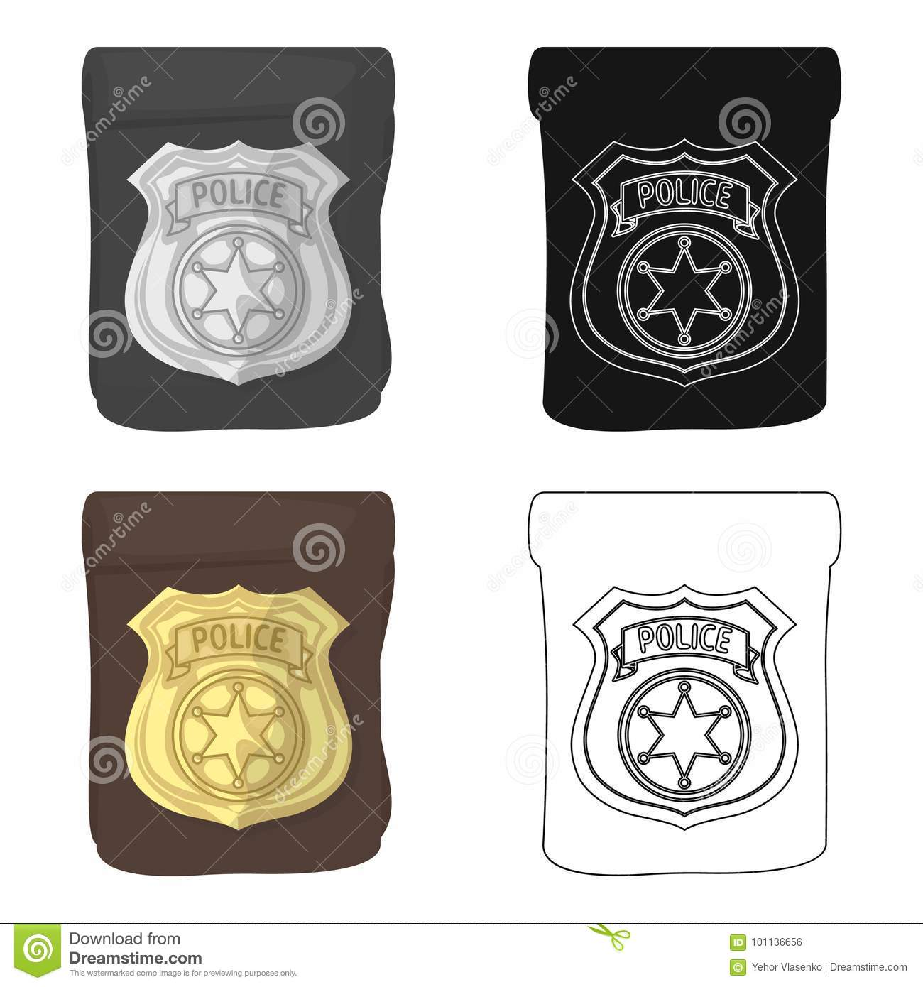 A Badge A Police Badge Detective And Police Single Icon In Cartoon