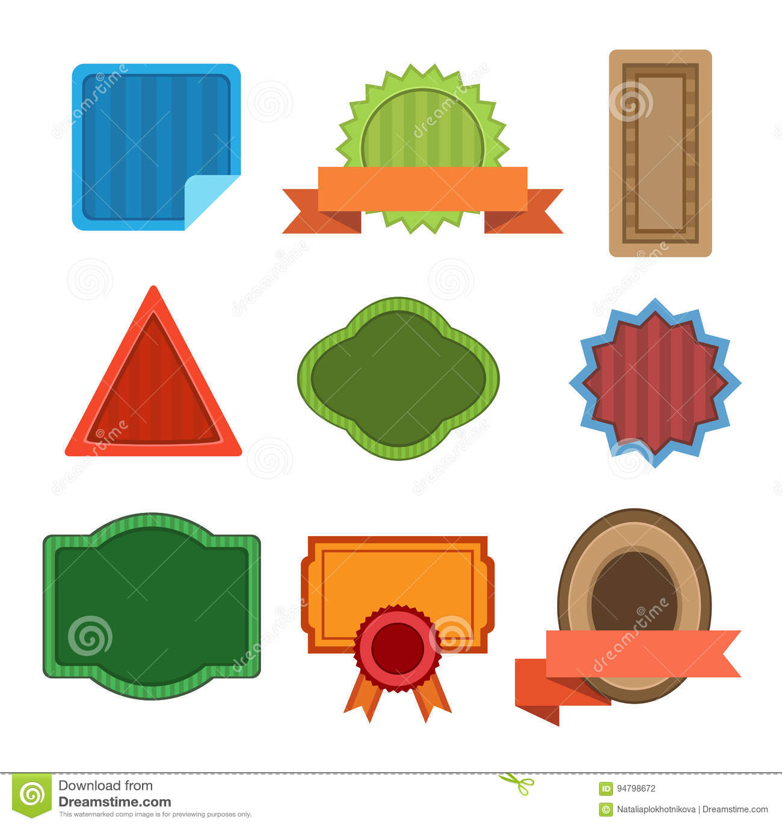 badge shaps vector set stock illustration illustration of