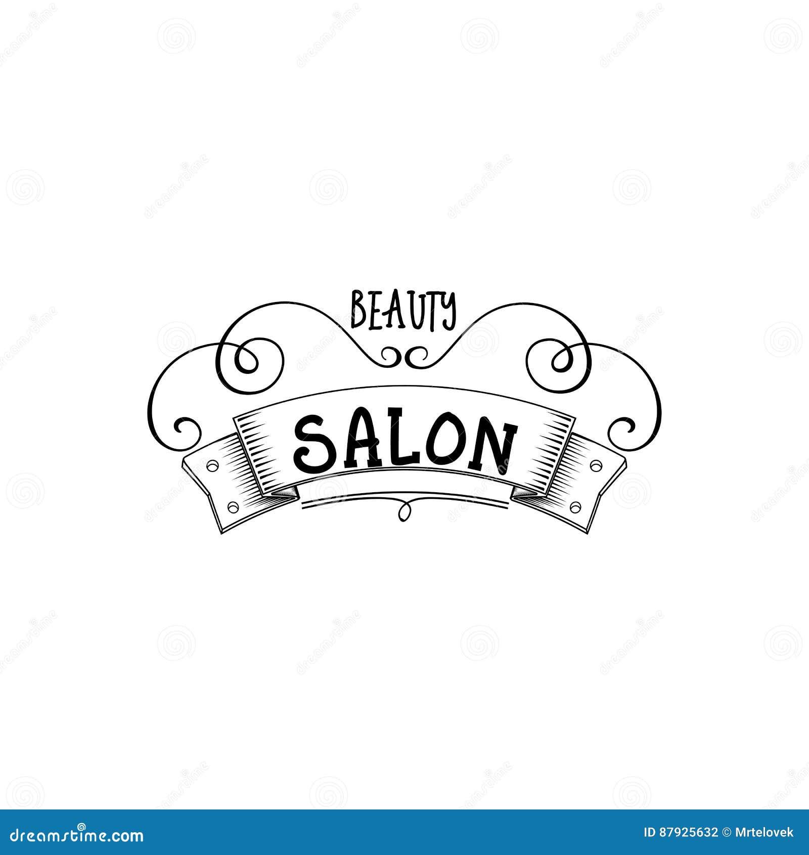 Beauty Salon. Sticker, Stamp
