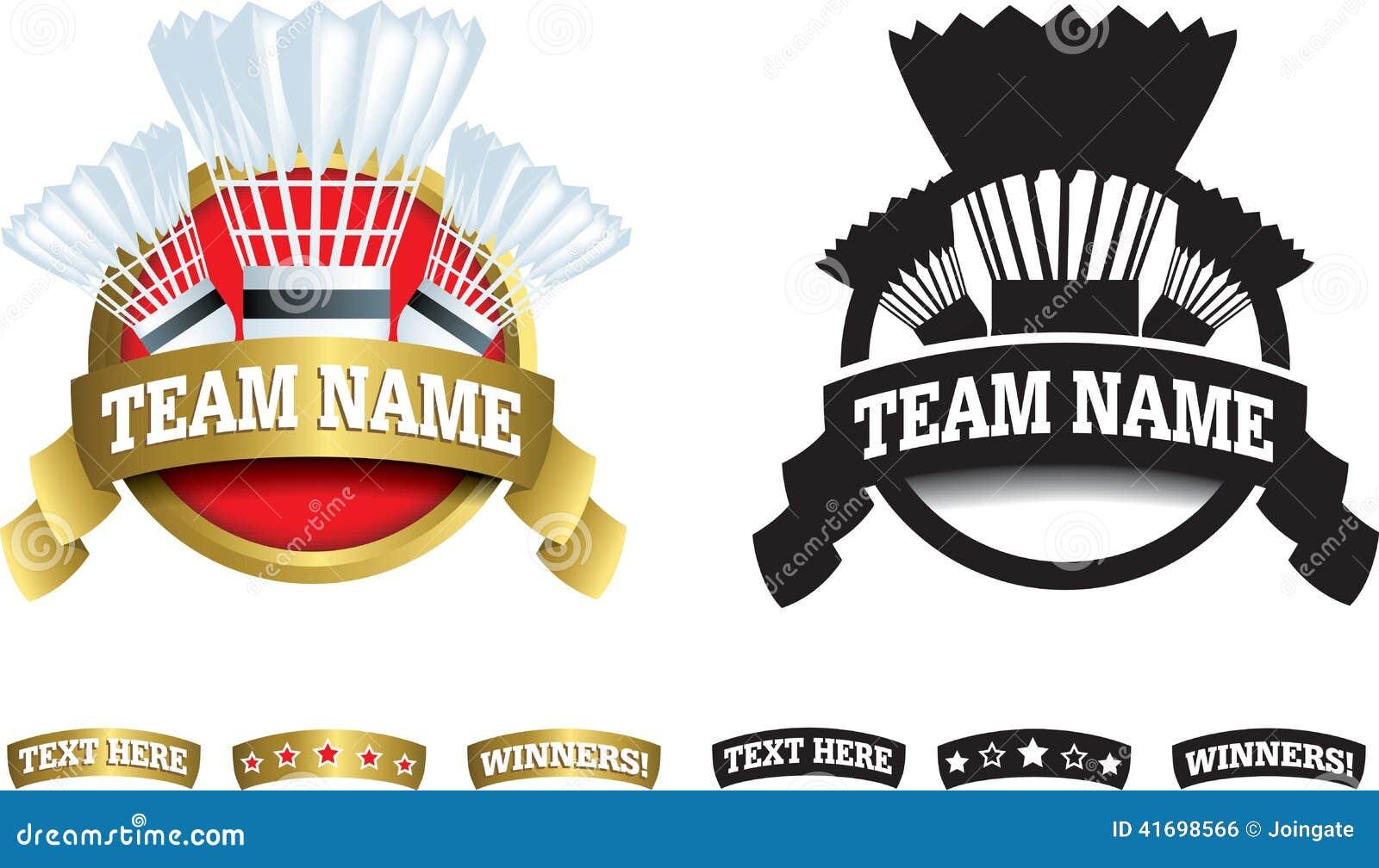 Badge, Symbol Or Icon On White For Badminton Stock Illustration ...