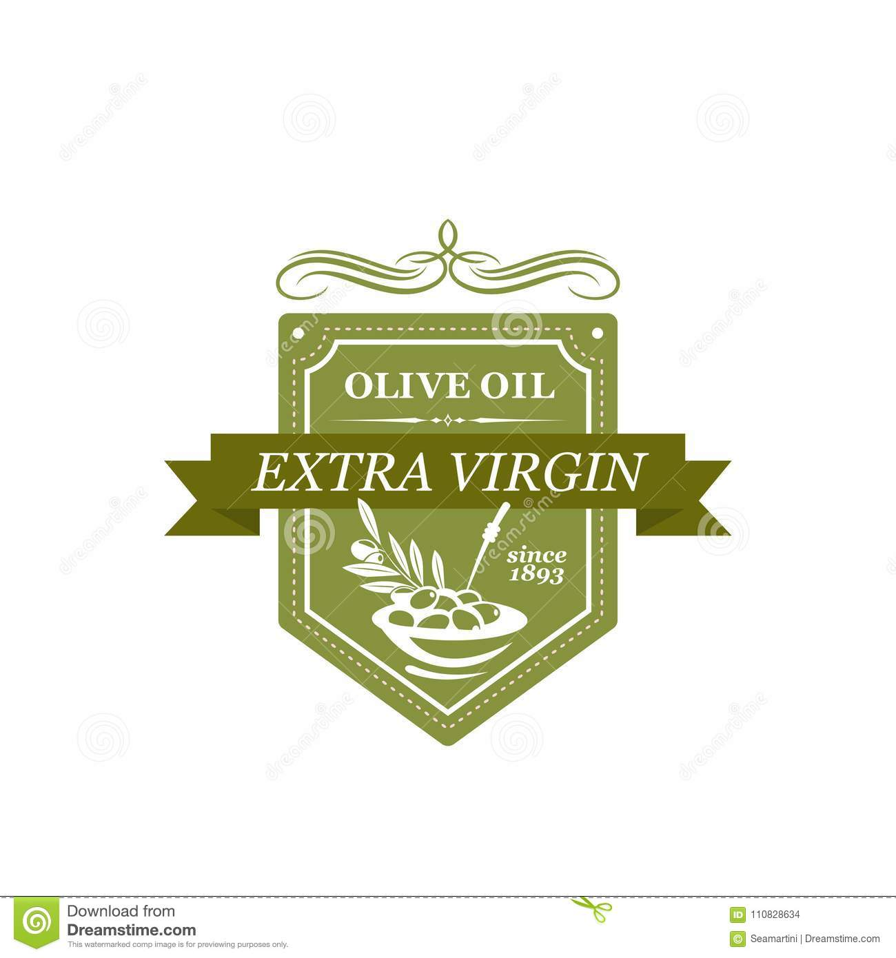 Icon with symbol of olives stock vector  Illustration of icon