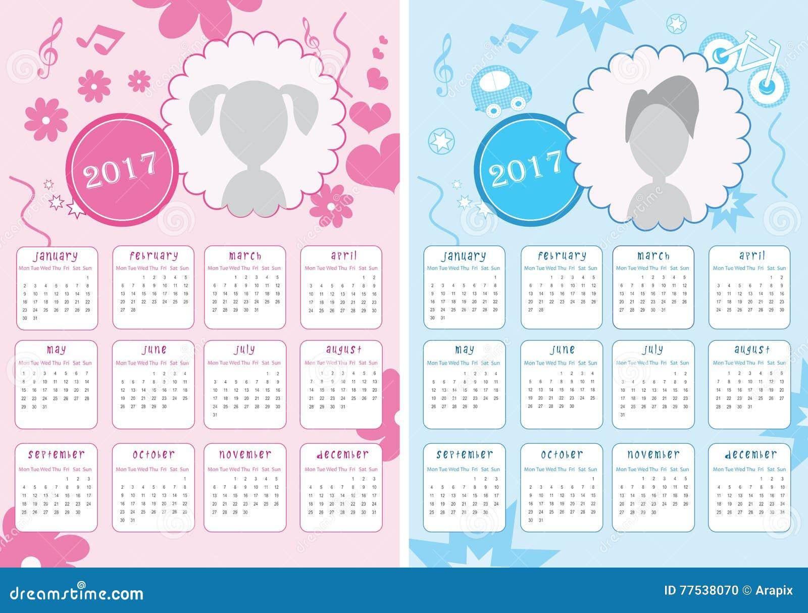 Double Time Kids Calendar : Badine le calendrier de nouvelles versions l année