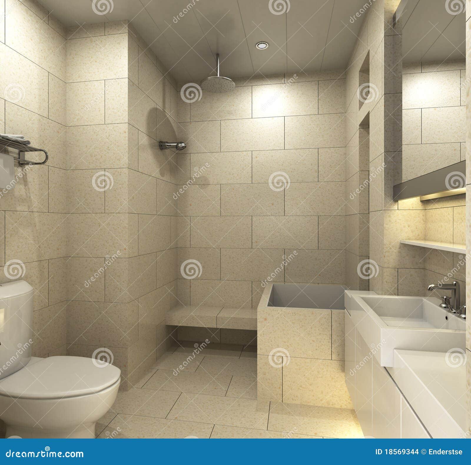 Badkamers stock illustratie. Illustratie bestaande uit architectuur ...