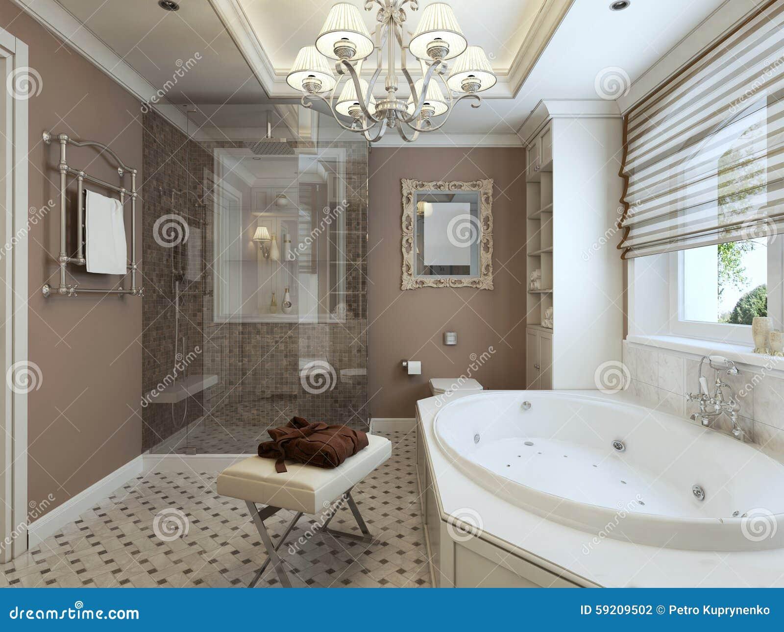 Badkamers art deco stock foto afbeelding bestaande uit