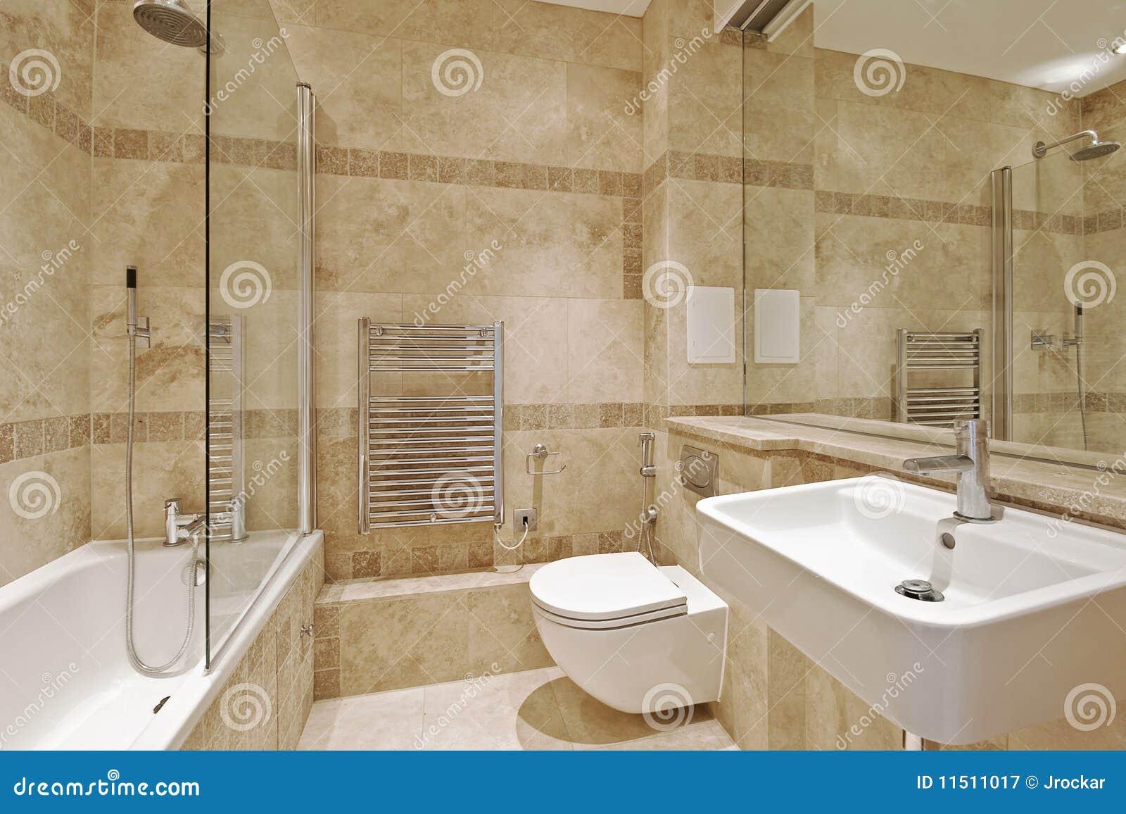 Badkamer Met Grijze Mozaiektegels : Travertine Tile Bathroom Ideas