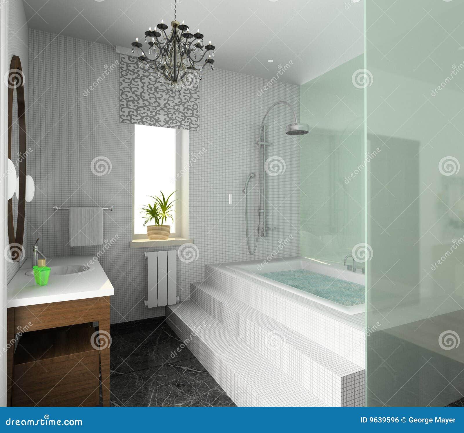 Badkamers. Modern Ontwerp Van Binnenland Stock Foto - Afbeelding ...
