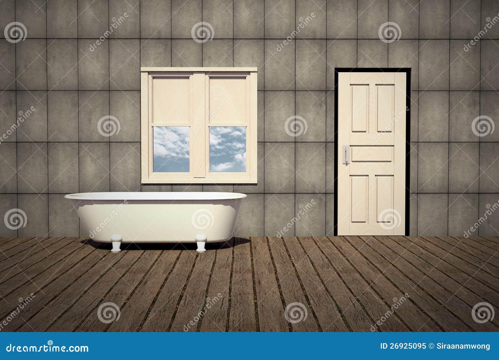 Badkar för gammal stil i en retro badrum royaltyfri foto   bild ...