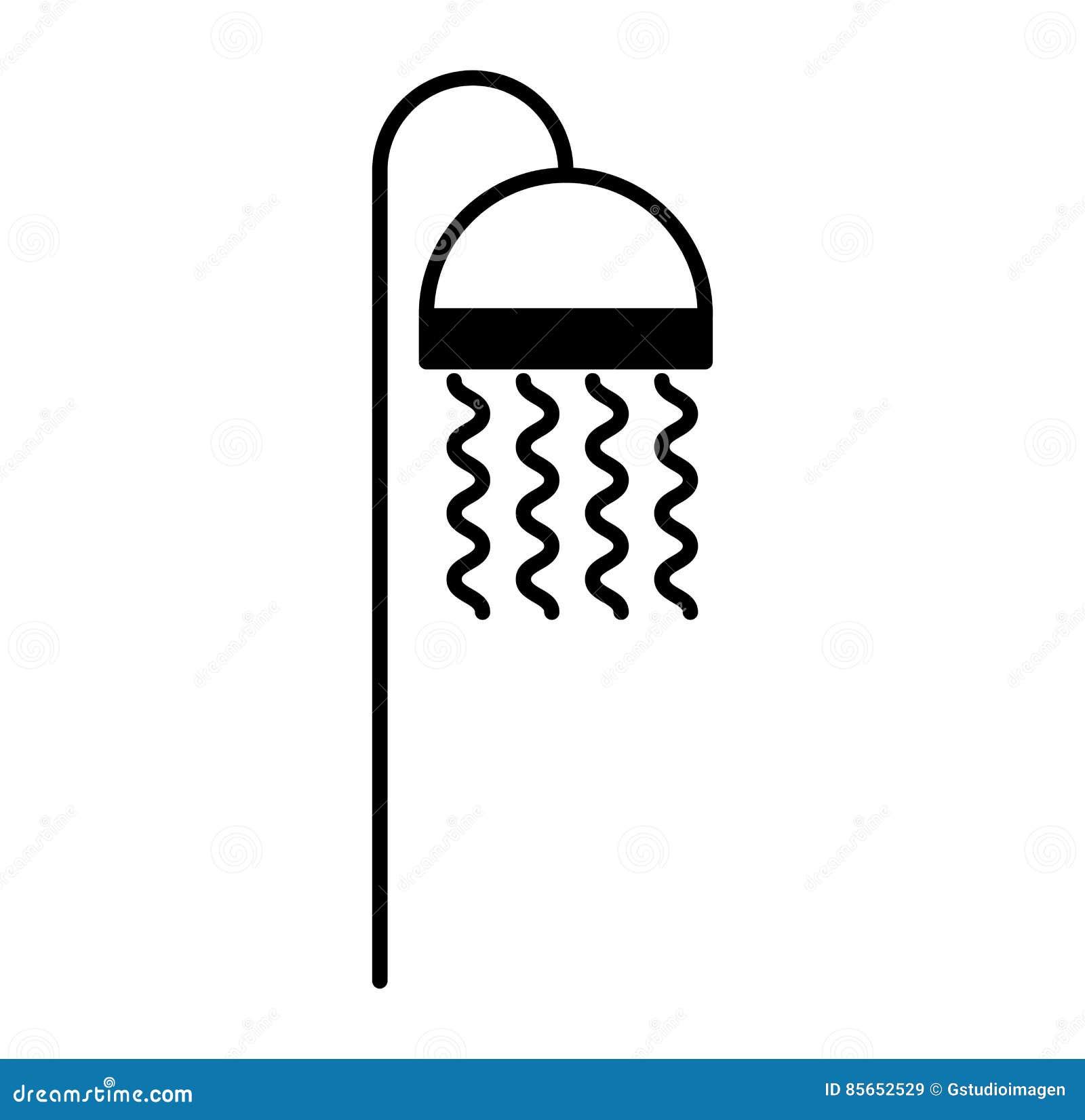 Badkuiptapkraan geïsoleerd pictogram