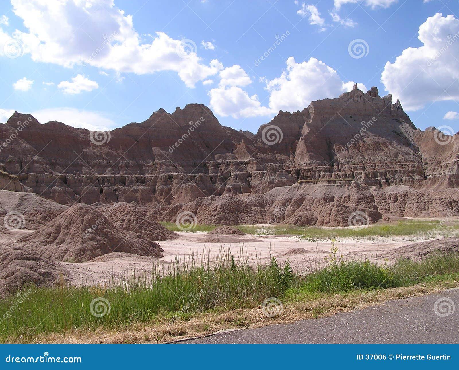 Download Badlands - Dakota del Sur foto de archivo. Imagen de barrancas - 37006