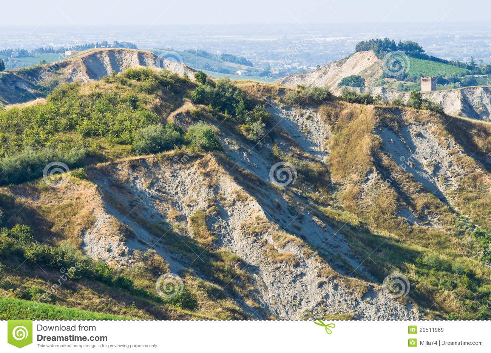 Badlands. Emilia-Romagna. Italië.
