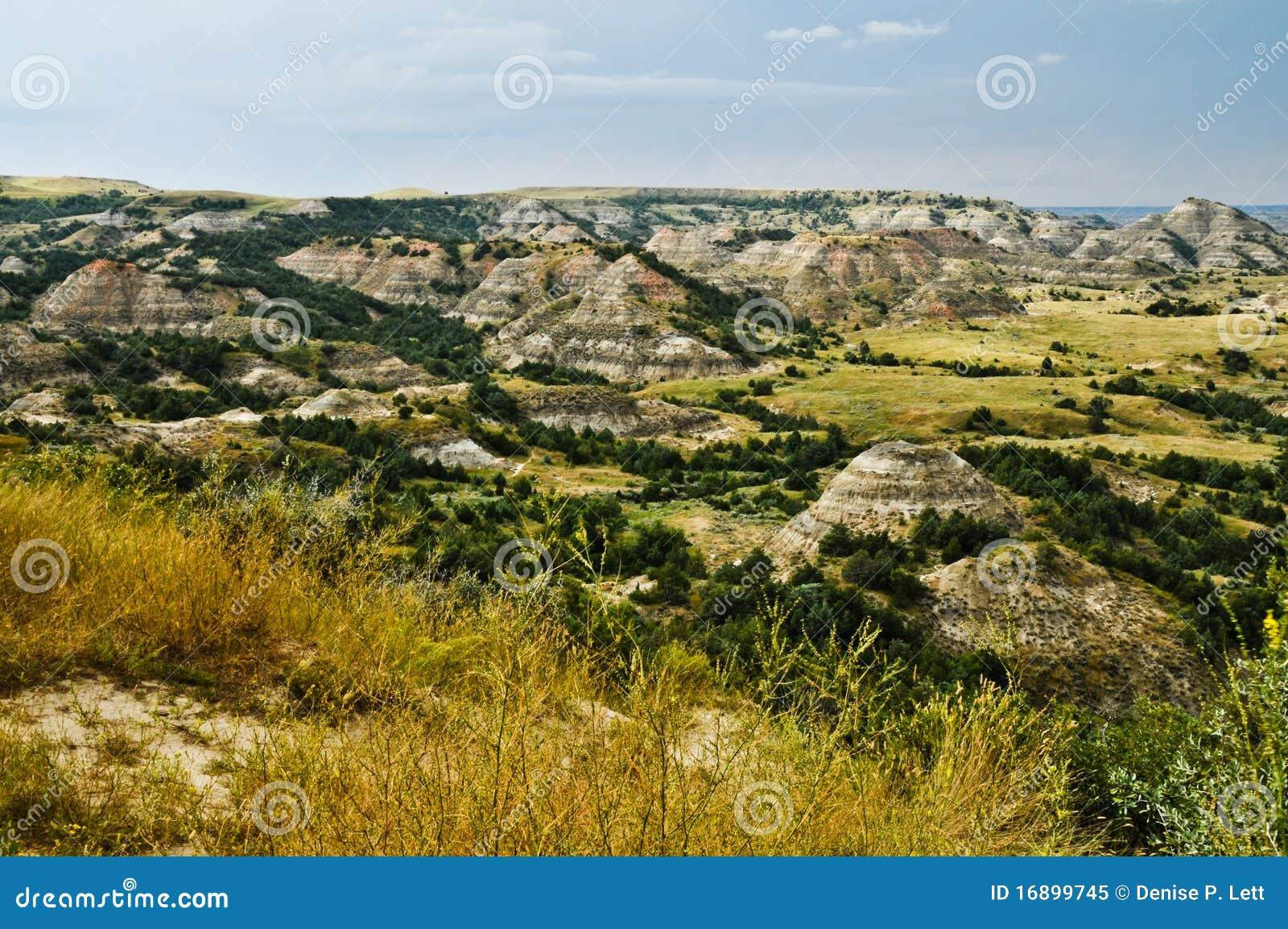 Badlands jaru Dakota północ malująca