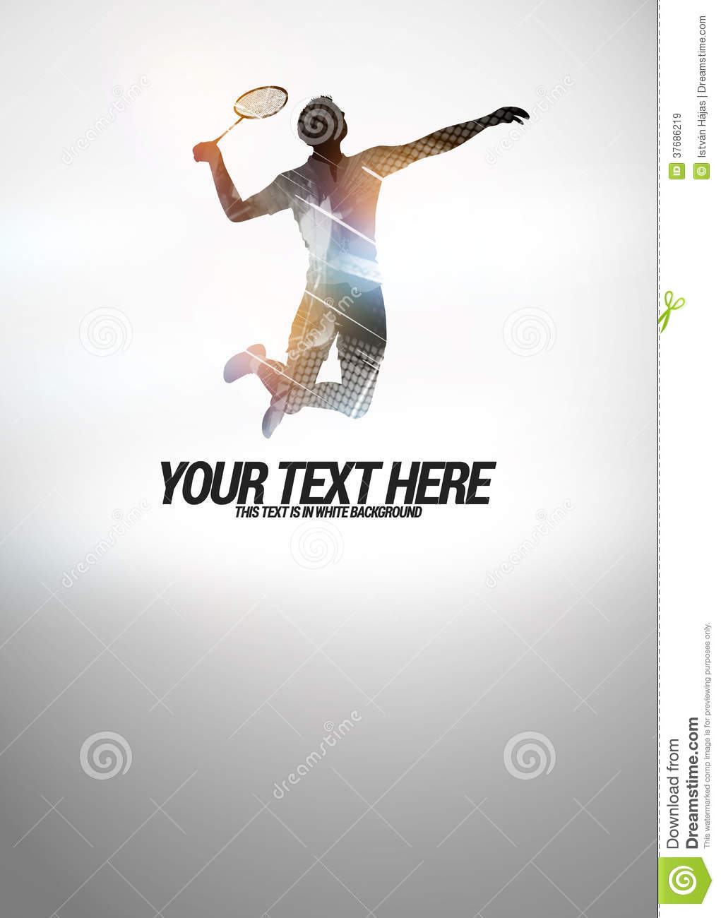 Badminton Background Stock Illustration Illustration Of