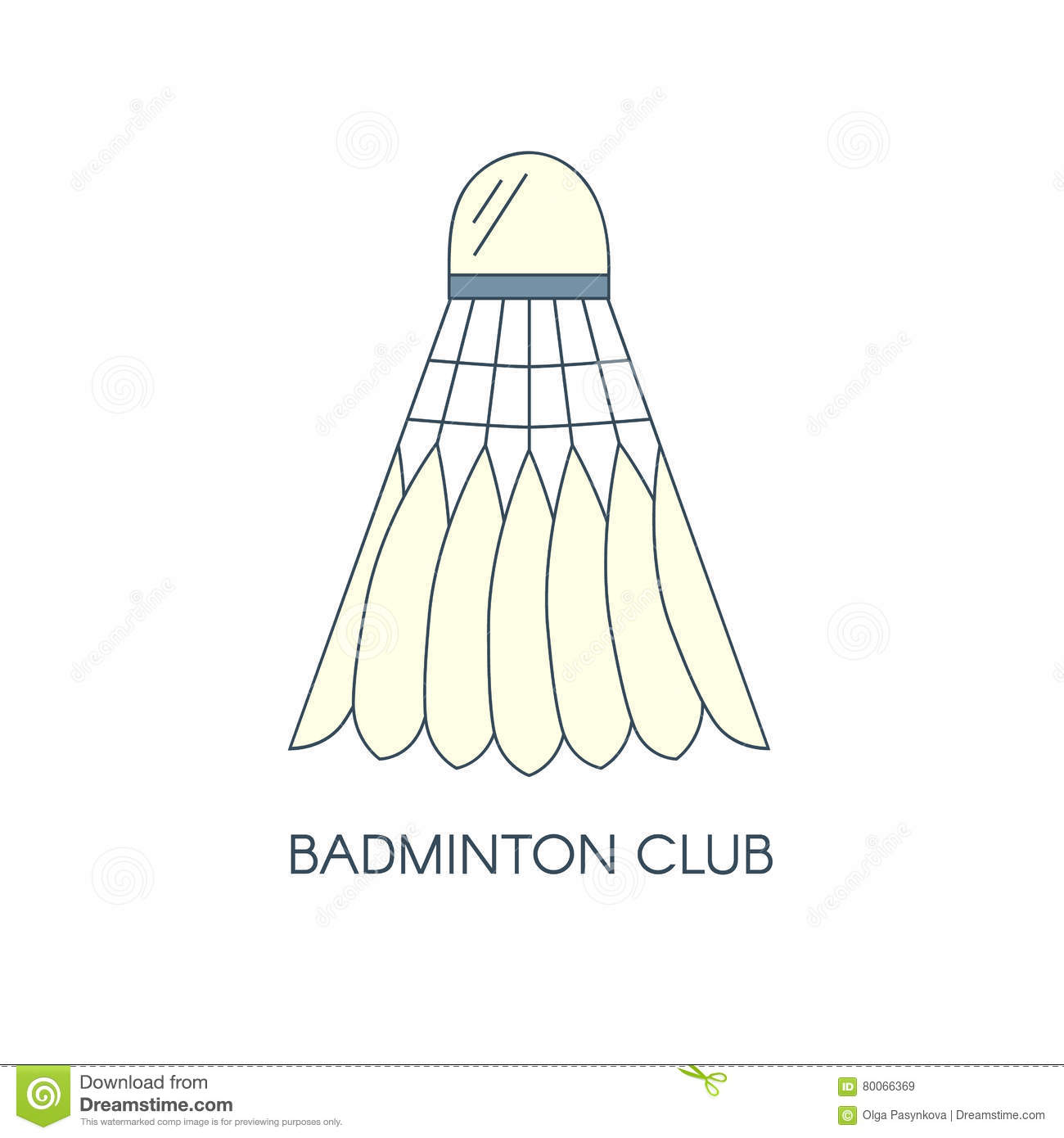 Badminton vector club logo stock vector image of indoor 47084353 badminton feathered shuttlecock icon isolated creative logo template for badminton club vector linear xflitez Image collections