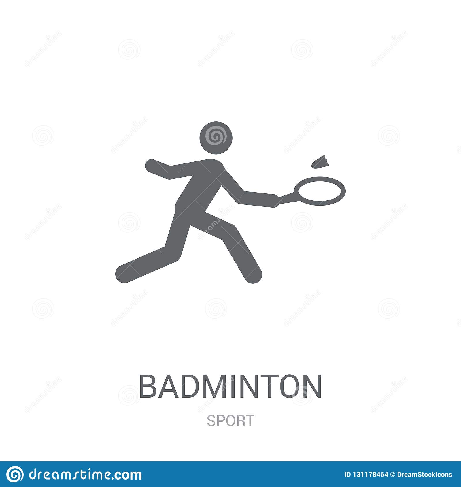 Badminton icon. Trendy Badminton logo concept on white background from Sport collection