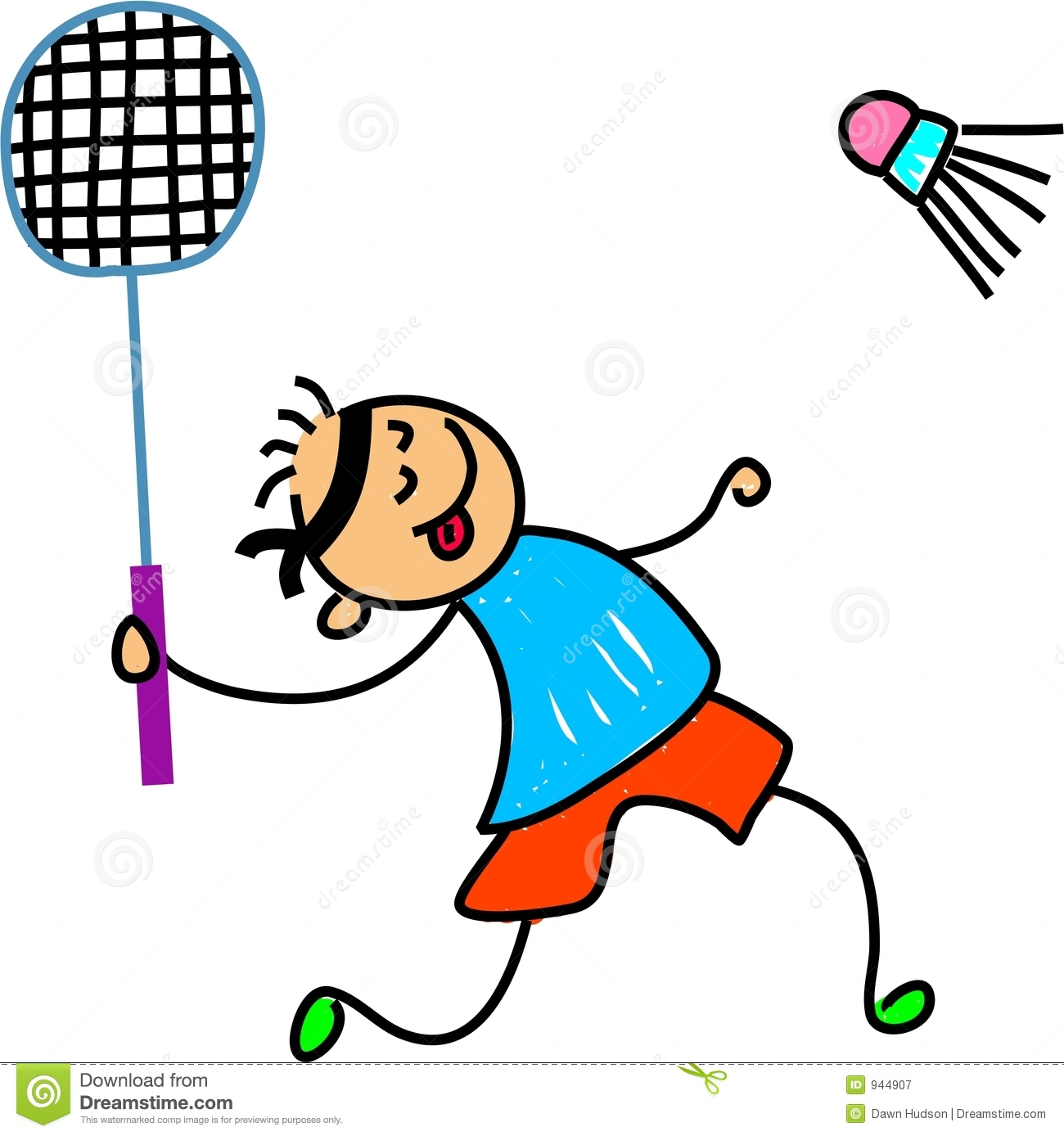 Badminton kid royalty free stock photography image 944907