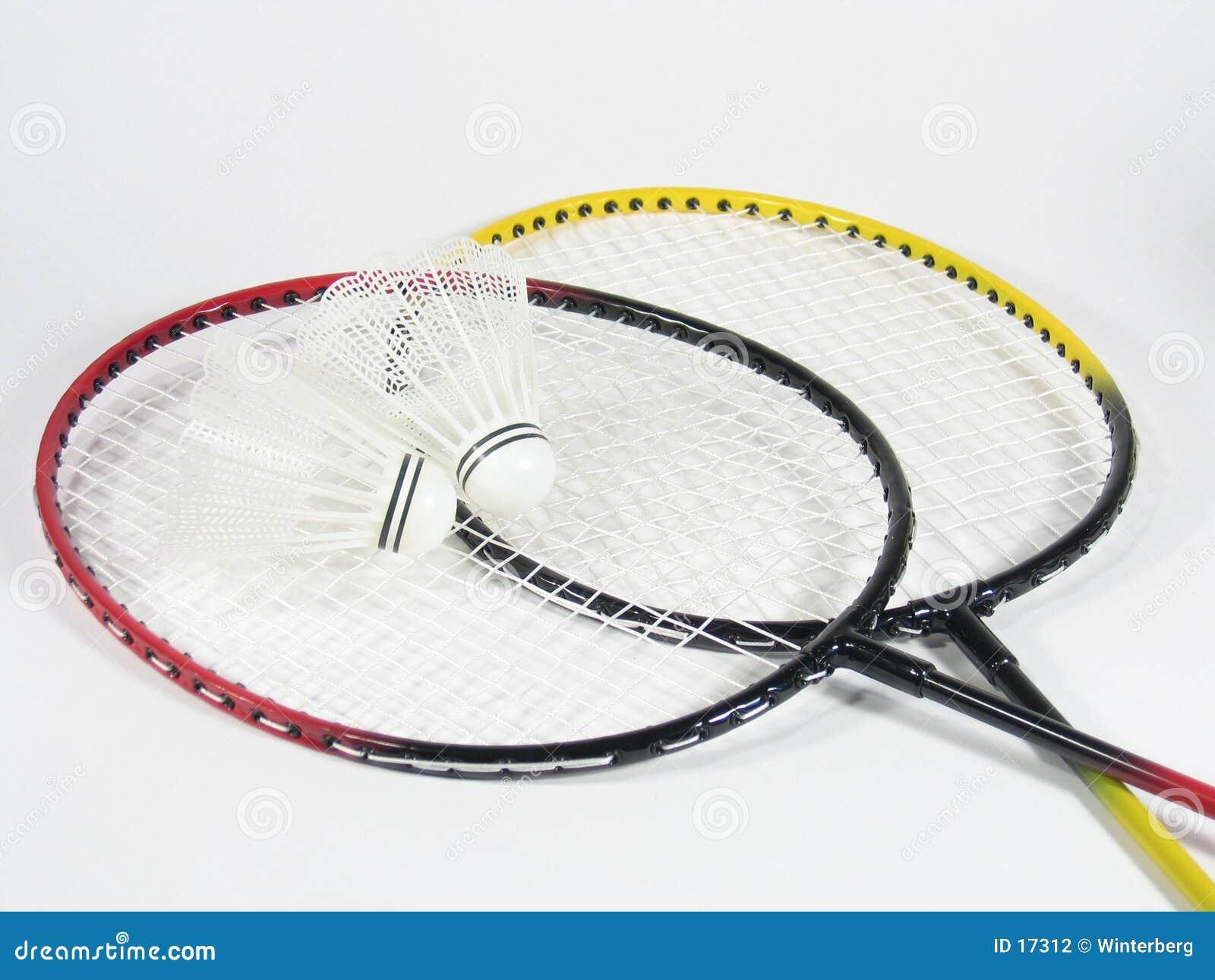 Badminton korsade raquets