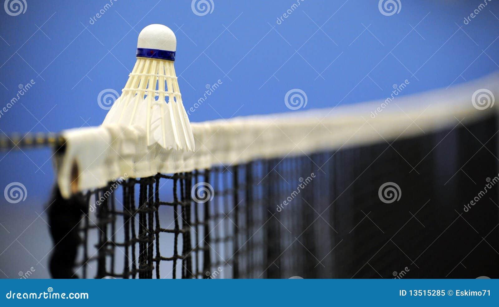 Badminton op netto