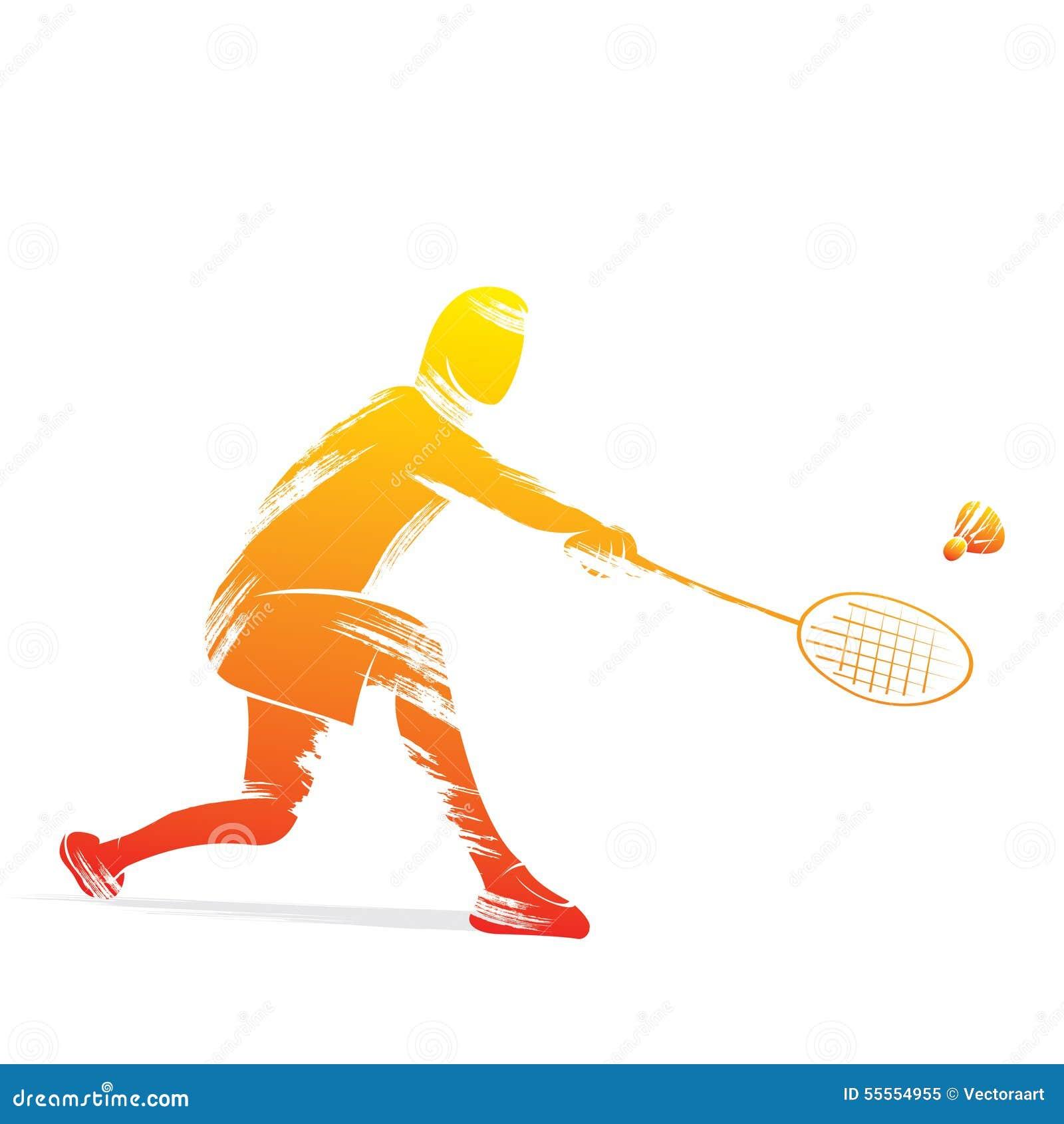 Badminton Player Design Stock Vector - Image: 55554955