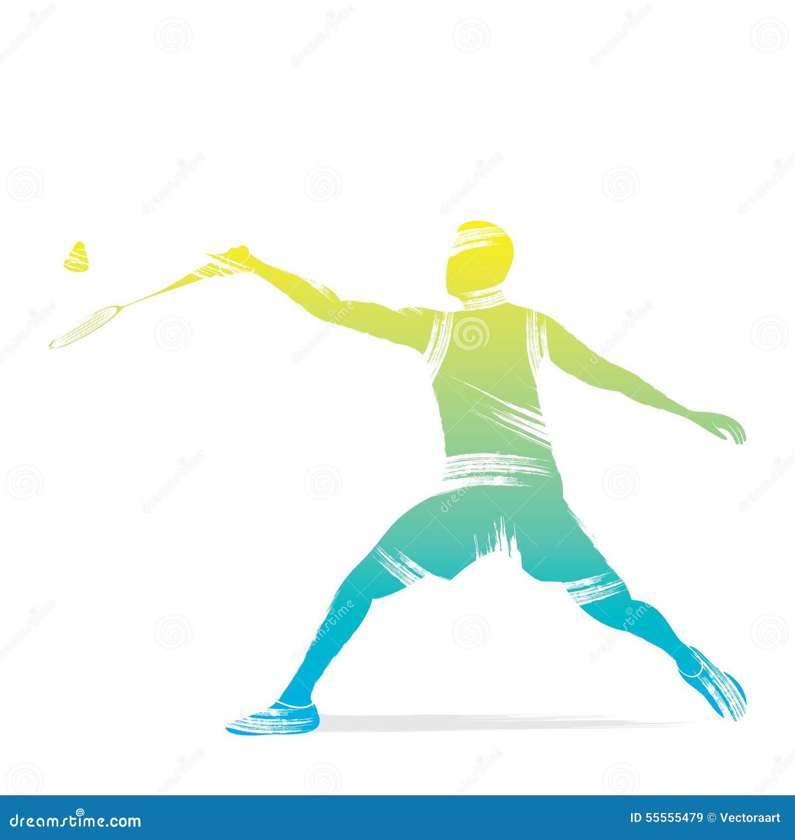 Badminton Player Design Stock Vector - Image: 55555479 Badminton Player Png
