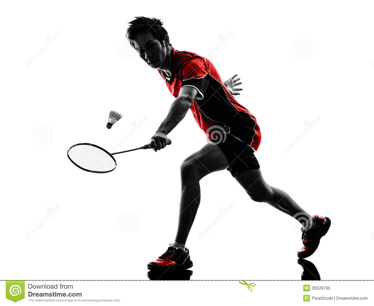 Badminton Player Young Man Silhouette Royalty Free Stock ... Badminton Player Png