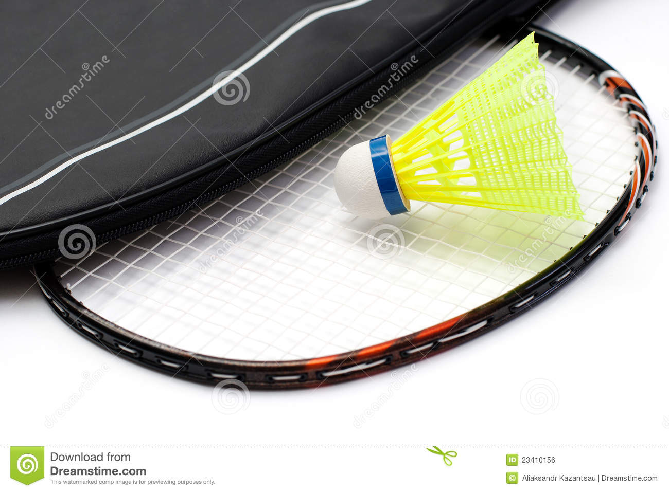 Royalty Free Stock Image  Badminton racket and shuttlecockBadminton Racket And Shuttlecock