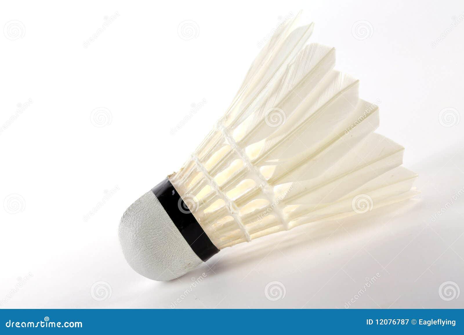 Badminton, weißes shuttlecock