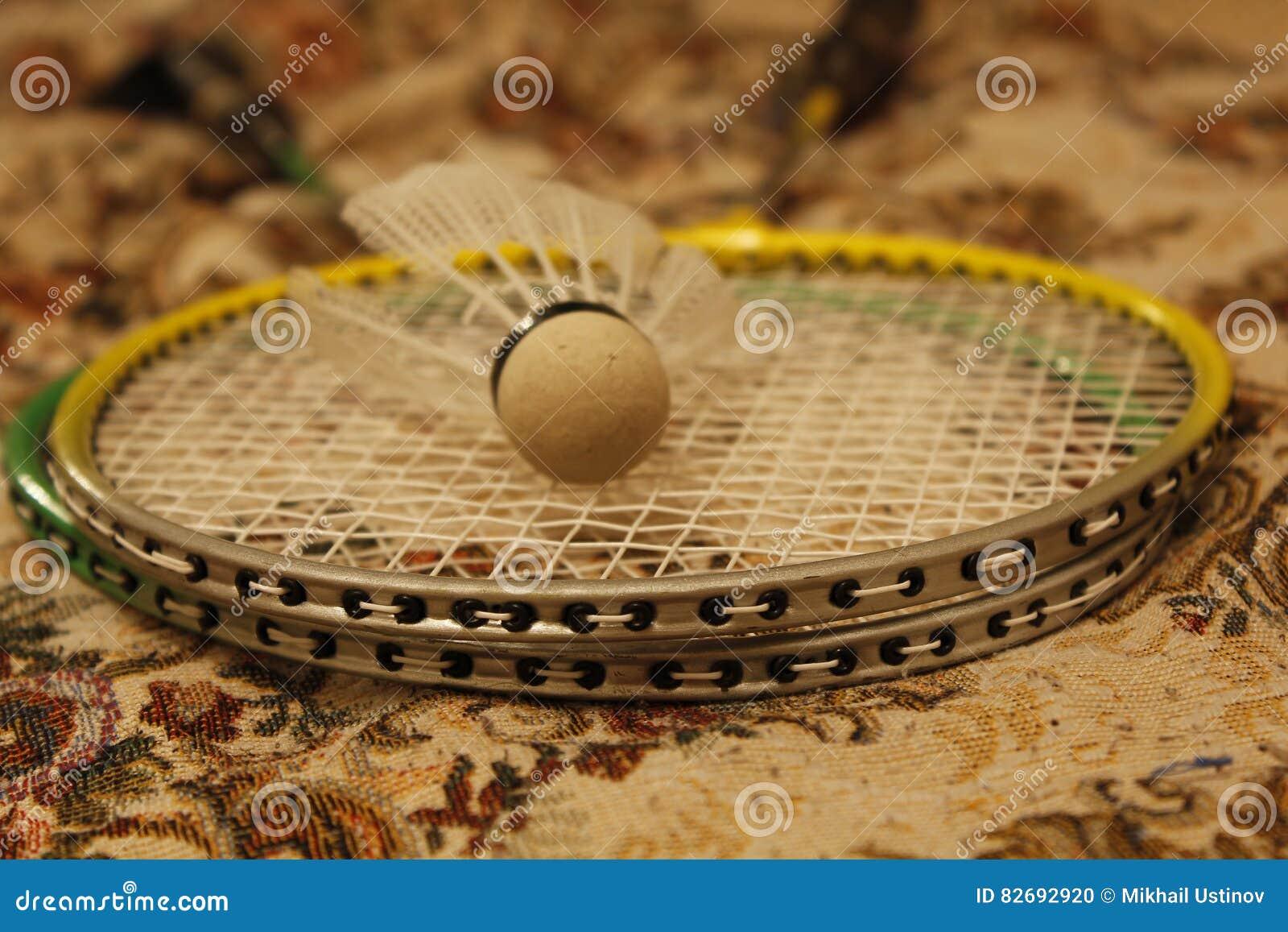 Badmintonracket och shuttlecock
