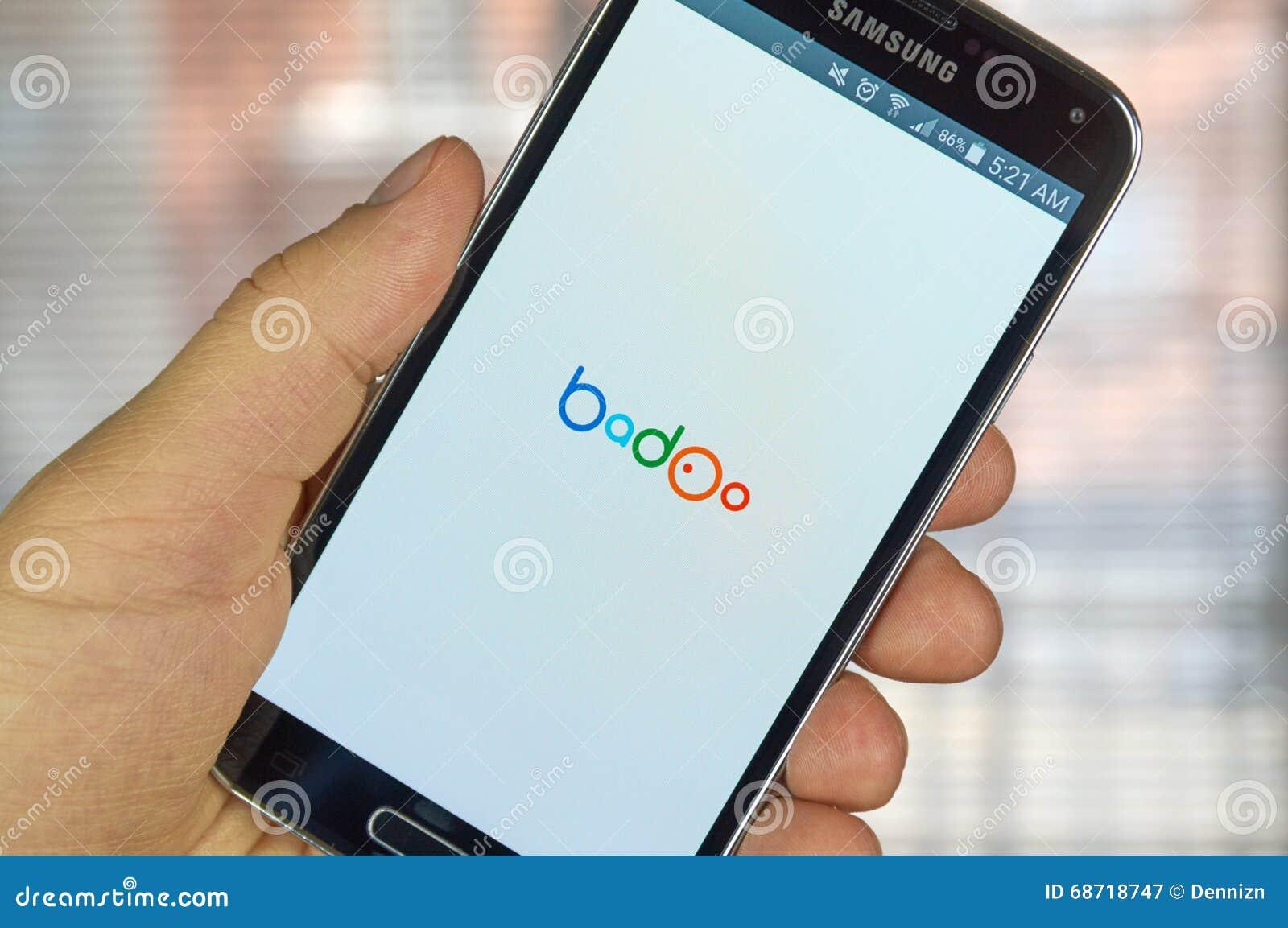 Badoo mobil app redaktionell arkivbild. Bild av kommunikation - 68718747