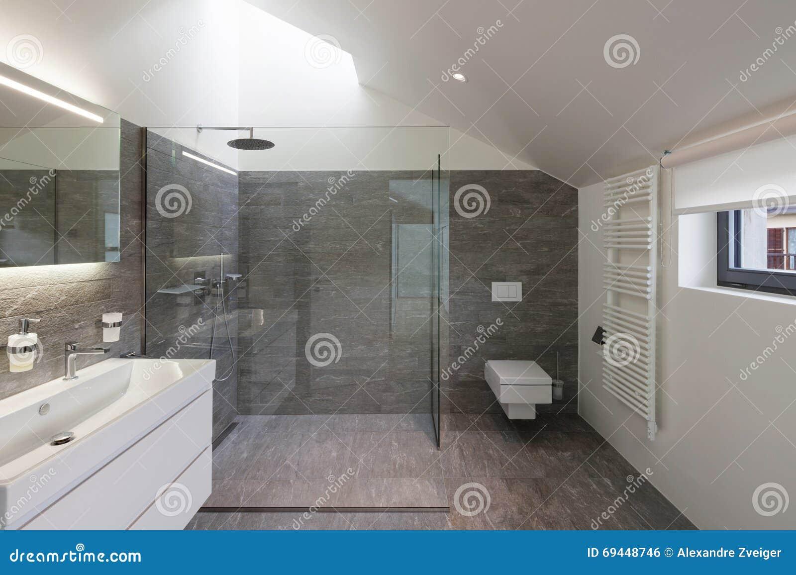 Badrum av ett modernt hus