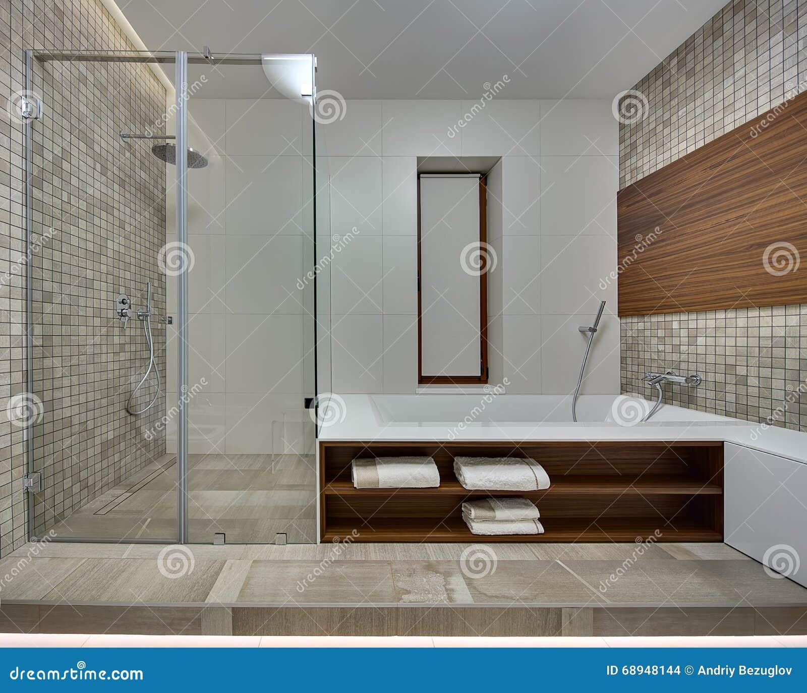 Badrum i en modern stil arkivfoto   bild: 68948144