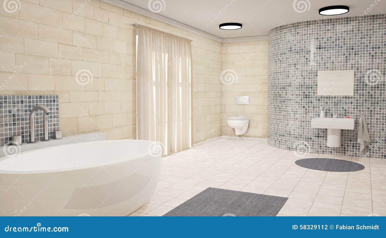 Badrum med gardiner stock illustrationer   bild: 58329112