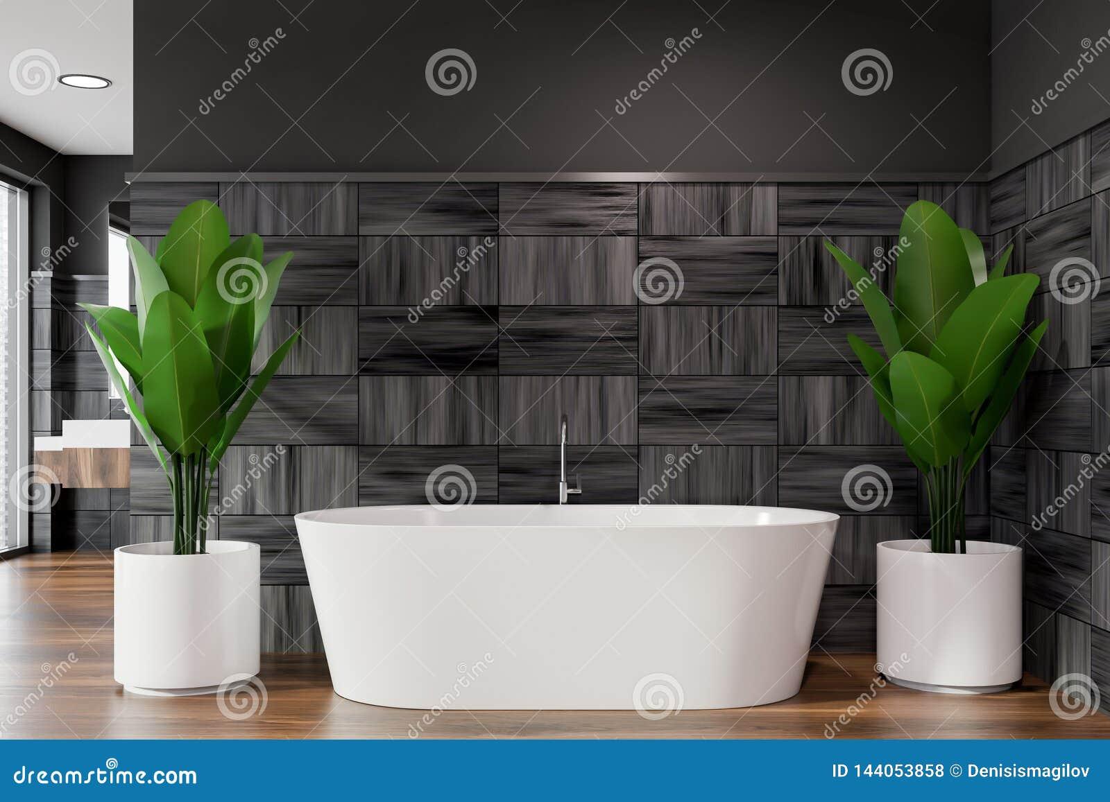 Badruminre för modern design med bathtube