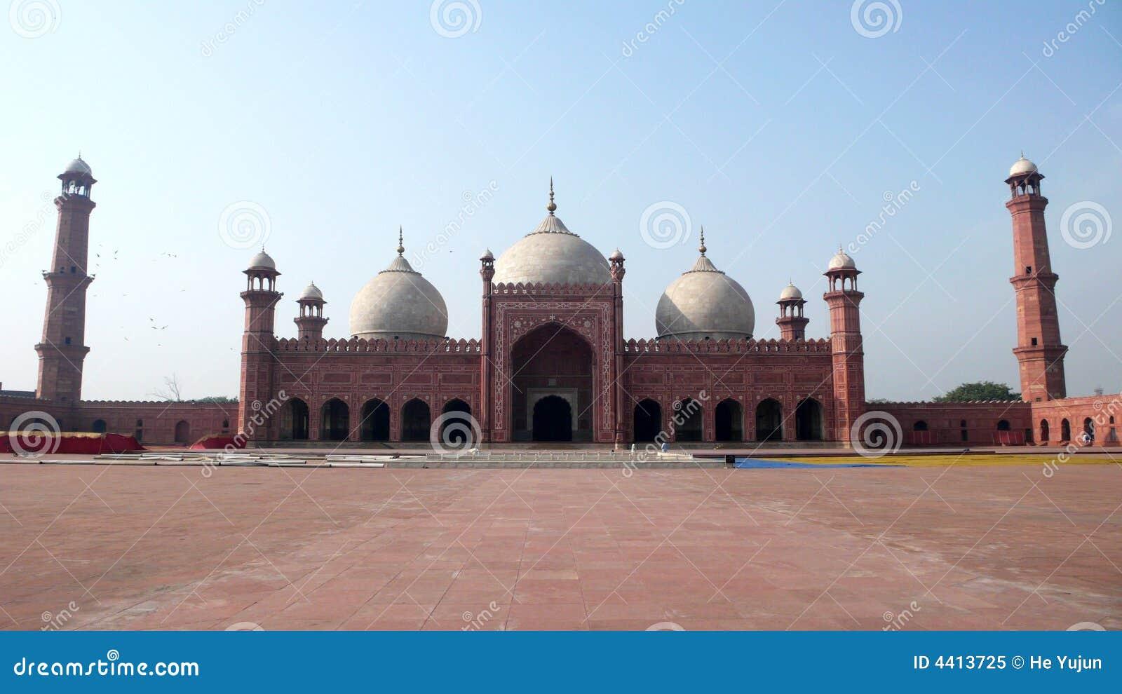Badshahi masjid stock image  Image of architecture, lahore - 4413725