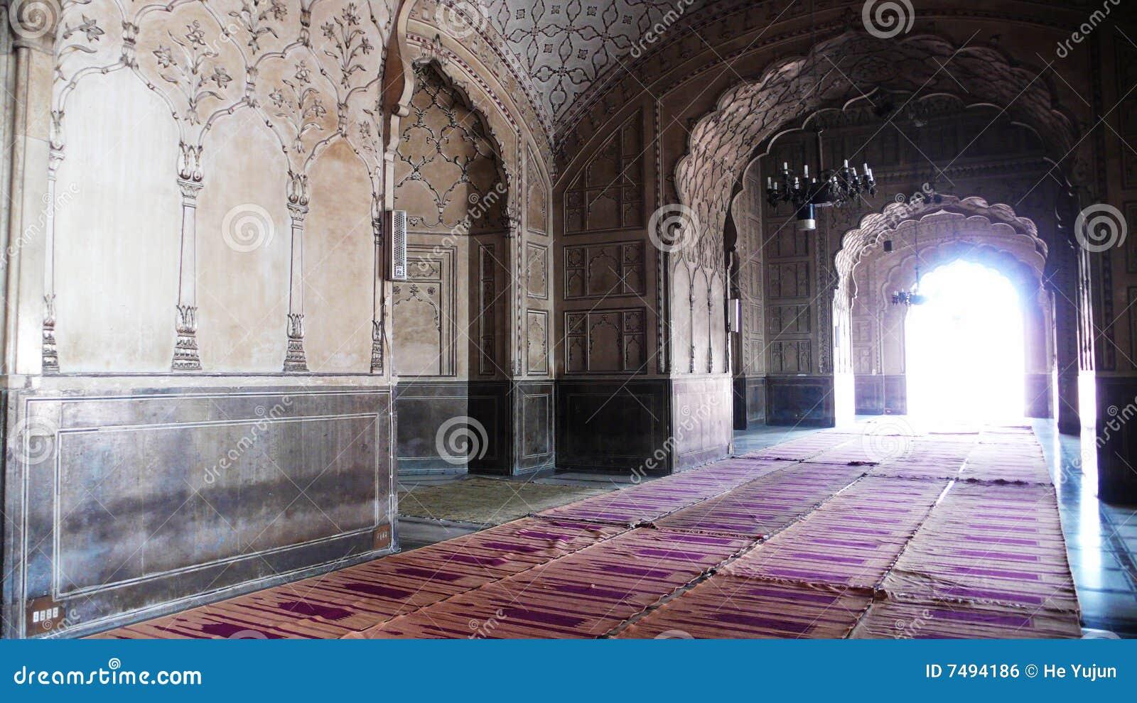 Badshahi wśrodku meczetu