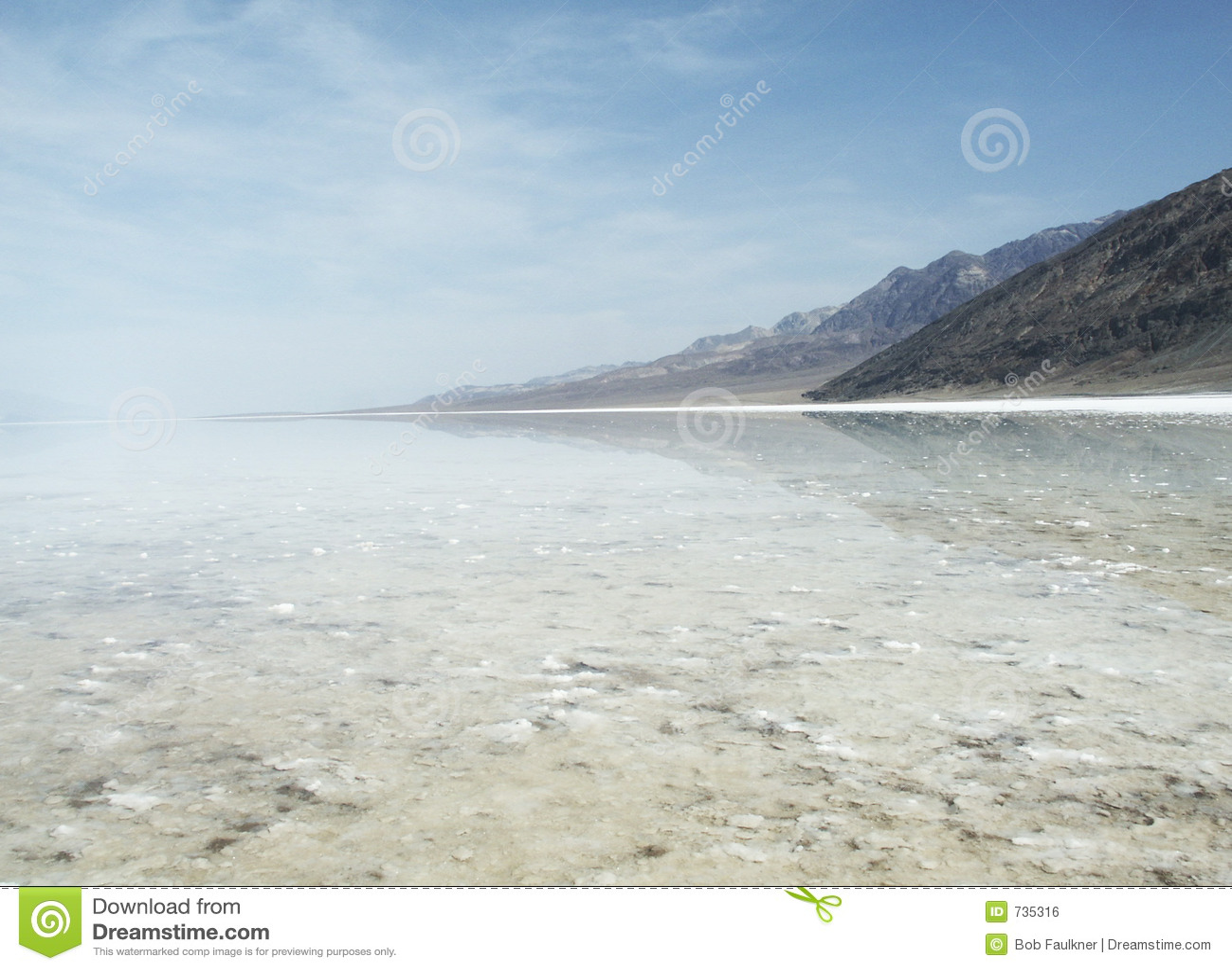 Badwater au stationnement national de Death Valley