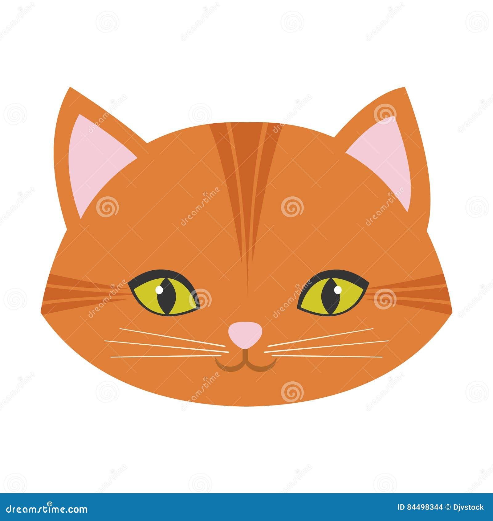 Baffi Svegli Del Naso Di Rosa Del Fronte Del Gatto Illustrazione Di