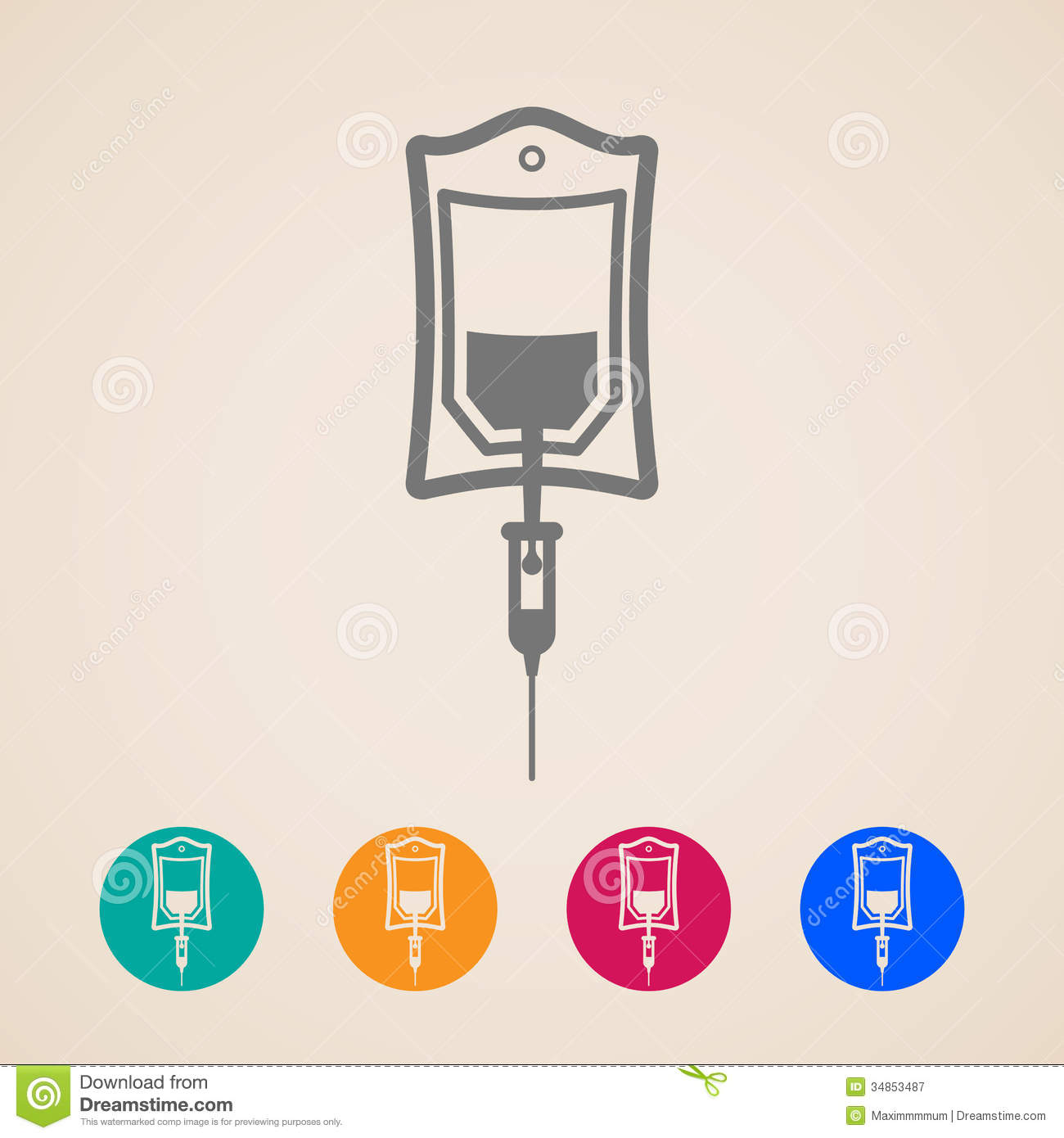 Bag Of Blood Icons Royalty Free Stock Photography - Image ...