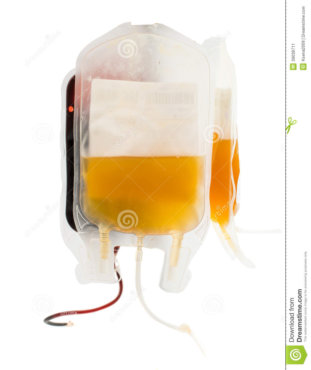 Bag Of Blood And Plasma Isolated Stock Photo - Image: 39038711
