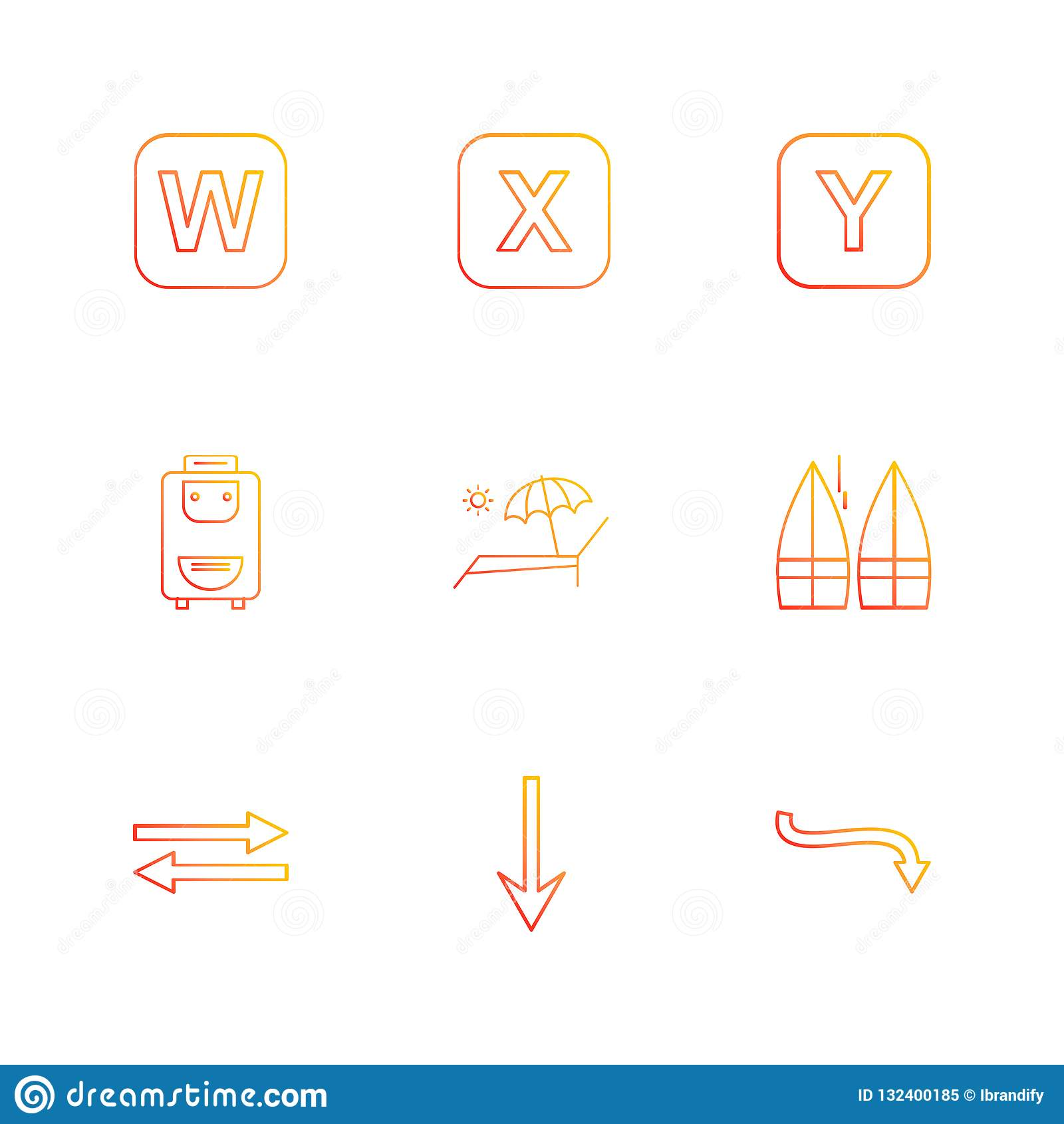 bag , boats , alphabets , sea , food , picnic , summer , eps icons set vector