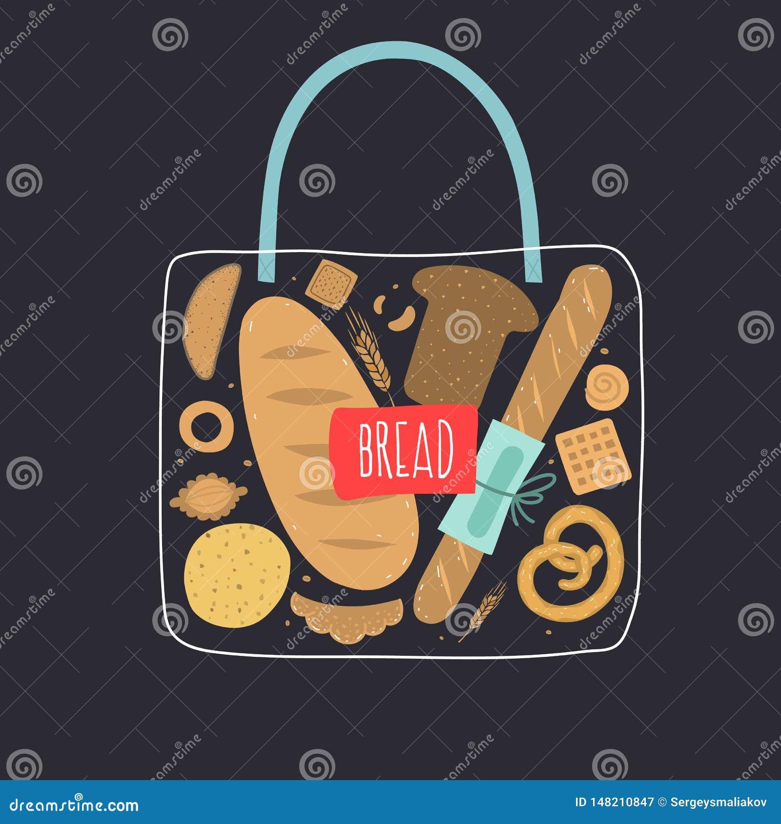 Bag of bread.