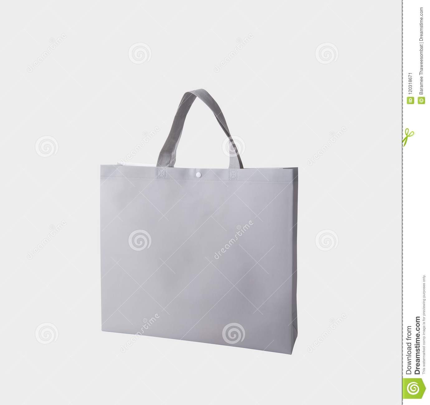 f8b89a31 Bag Canvas Fabric For Mockup Blank Template Isolated On White Stock ...