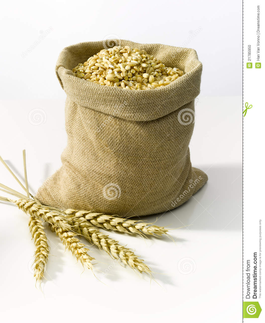 Bag With Cereal Stock Photo. Image Of Harvest, Golden