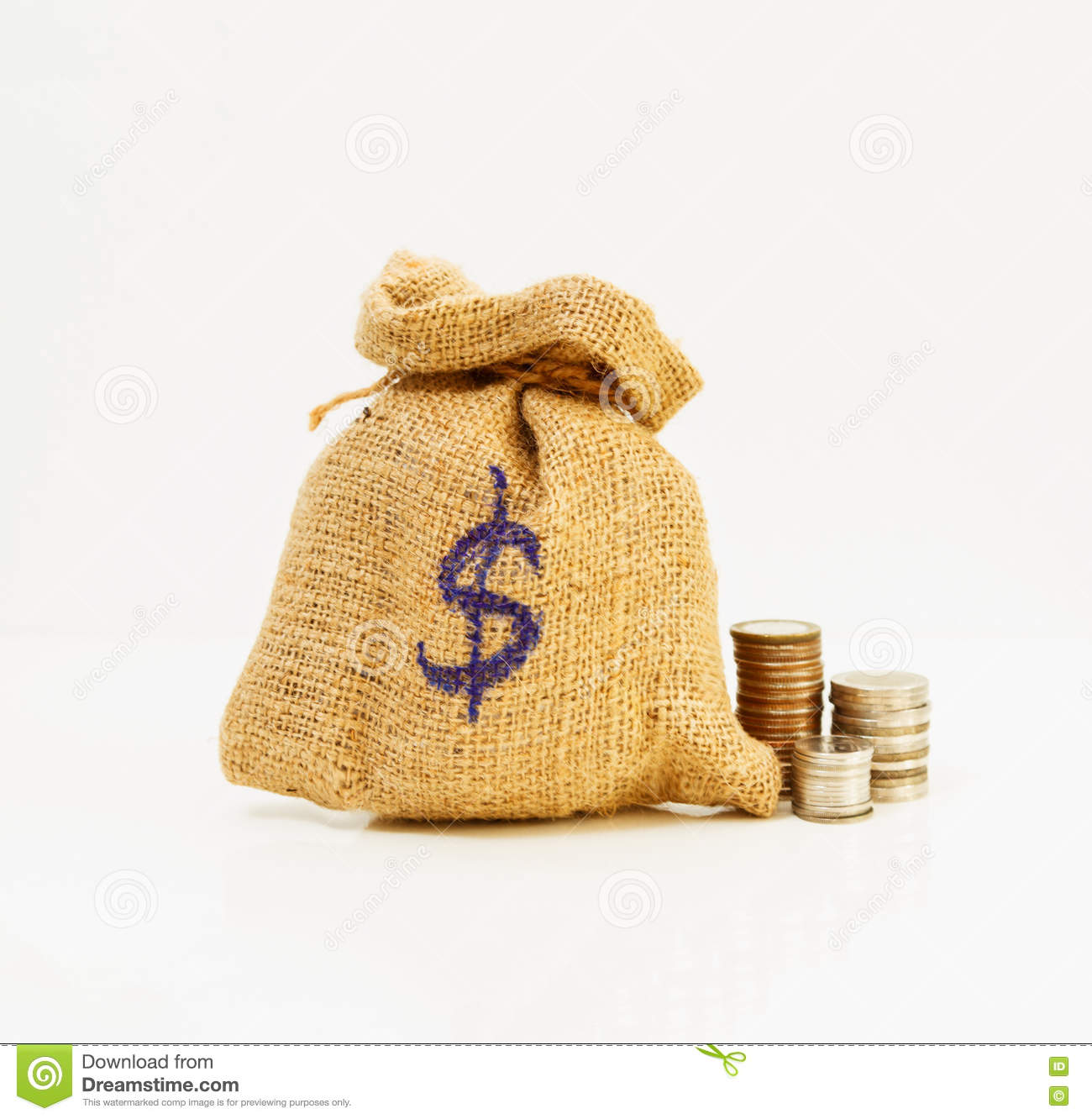 Bag Of Coins,Bags Filled With Coins,finance Concept,business