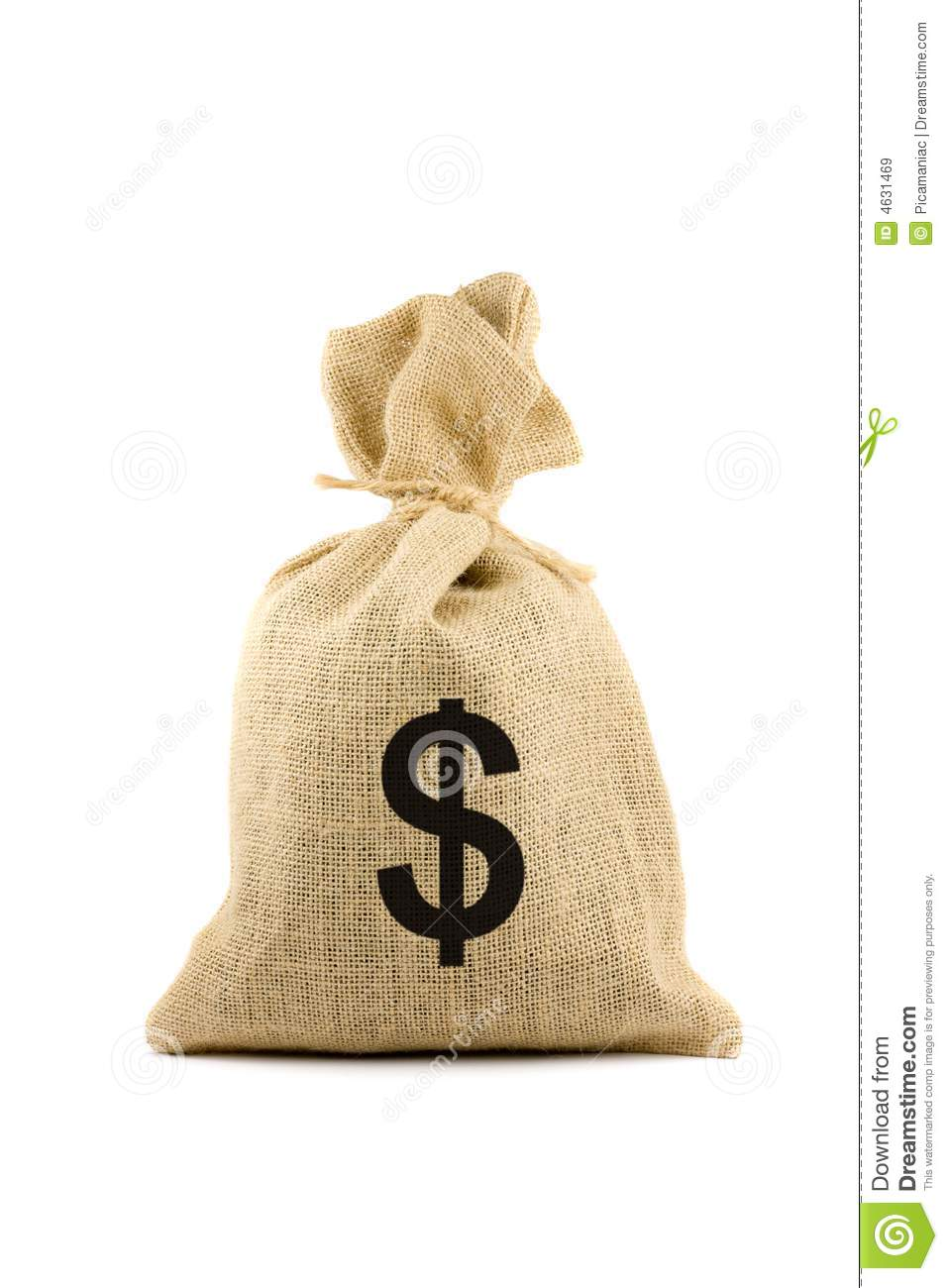 Bag With Dollar Sign Stock Image Image Of Object