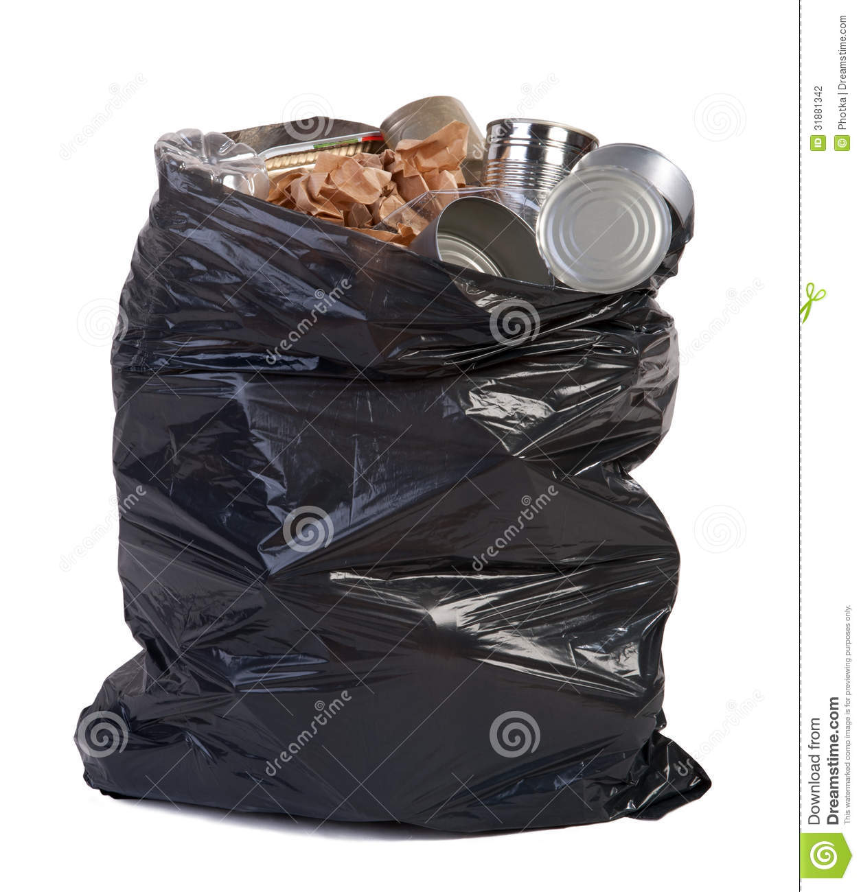 bag full of garbage stock photo image of chores liner 31881342